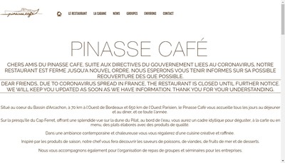 Site internet de Le Pinasse Cafe