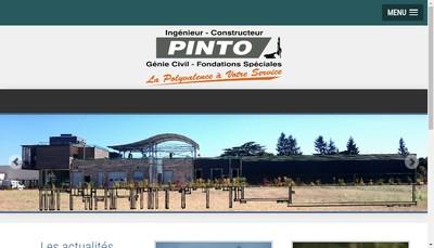 Site internet de Entreprise Pinto