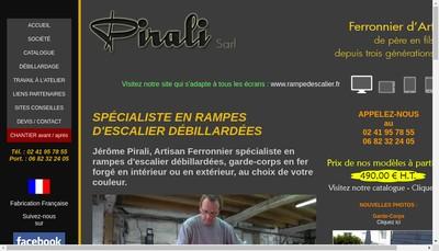 Site internet de SARL Pirali