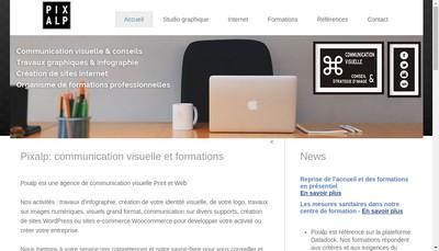 Site internet de Pixalp Communication