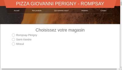 Site internet de Pizza Giovanni