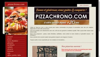 Site internet de Pizza Chrono Com