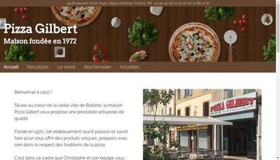 Site internet de Pizza Gilbert