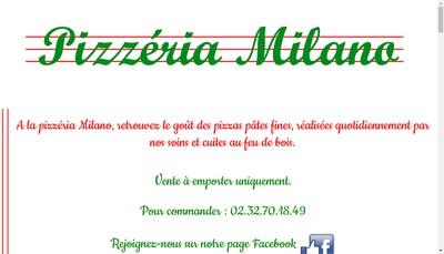 Site internet de Pizzeria Milano