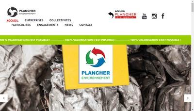 Site internet de Plancher Environnement