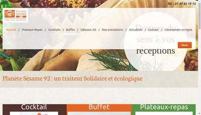 Site internet de Planete Sesame 92