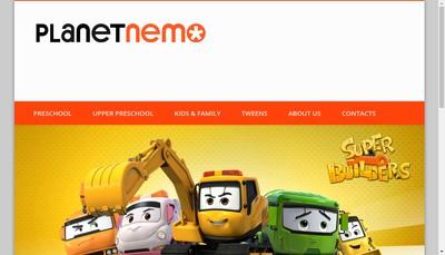Site internet de Planet Nemo Animation