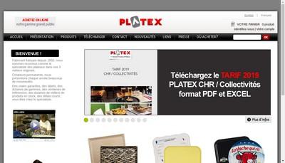 Site internet de Platex
