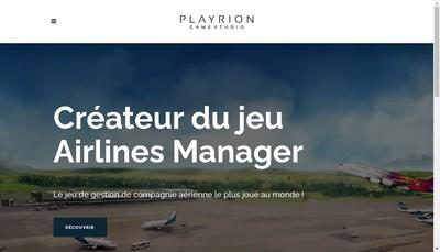 Site internet de Playrion