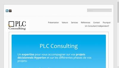 Site internet de Plc Consulting