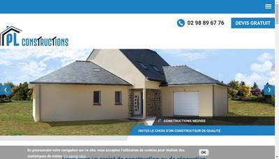Site internet de Pl Constructions
