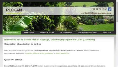 Site internet de Plekan Paysage