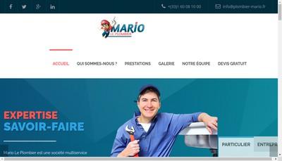 Site internet de Mario le Plombier