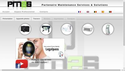 Site internet de Partenaires Maintenance Services et Solutions