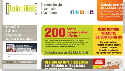 Site internet de Pointilles Studio Pre-Presse
