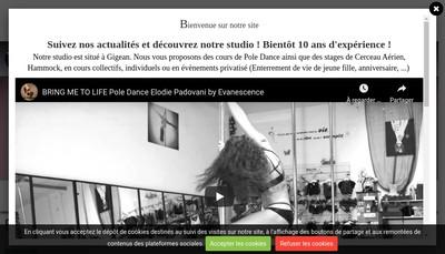 Site internet de Pole Dance Stars