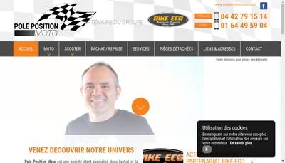 Site internet de Pole Position Moto