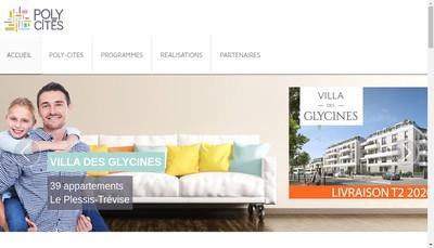 Site internet de Poly-Cites
