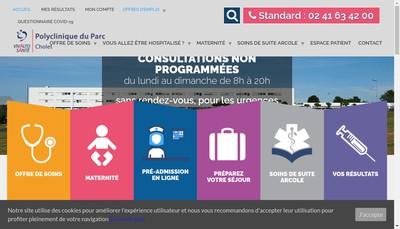 Site internet de Polyclinique du Parc