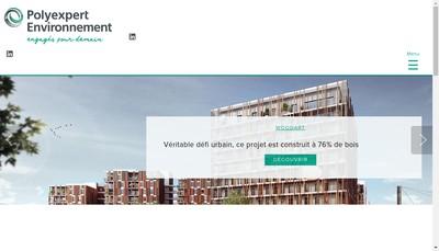 Site internet de Polyexpert Environnement