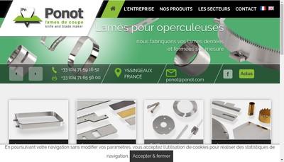 Site internet de Ponot