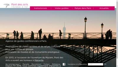 Site internet de Pont des Arts