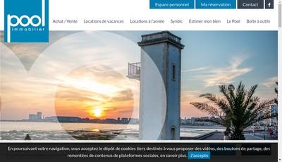 Site internet de Pool Immobilier Sablais