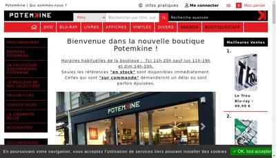 Site internet de Potemkine Films