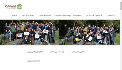 Site internet de Pouget Consultants