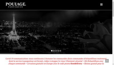 Site internet de Poulage Parfumeur