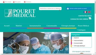 Site internet de Pouret Medical