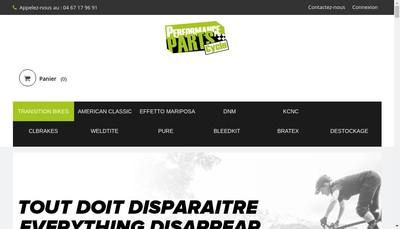 Site internet de Performance Parts Cycle - Ppc