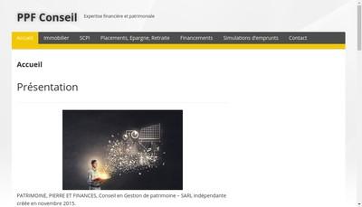 Site internet de Patrimoine, Pierre et Finances