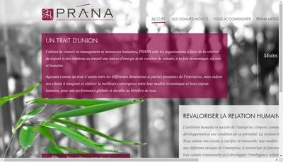 Site internet de Prana Conseil