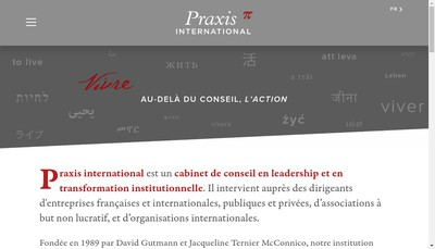 Site internet de Praxis International