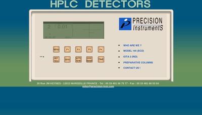 Site internet de Precision Instruments