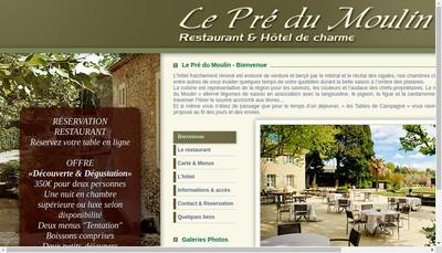 Site internet de Hostellerie du Vieux Chateau