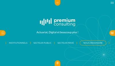 Site internet de Premium Consulting