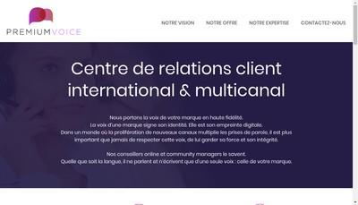 Site internet de Premium Voice