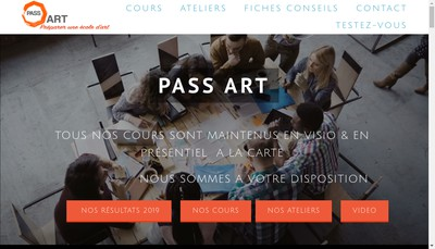 Site internet de Pass Art
