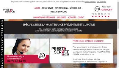 Site internet de Presta Services
