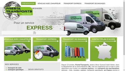 Site internet de Presta Transports