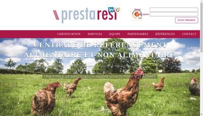 Site internet de Prestarest