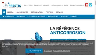Site internet de Prestia Galvalek