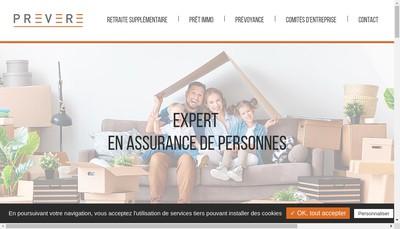 Site internet de Prevere