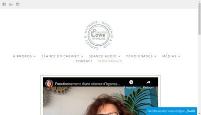 Site internet de Priscilla Lowe