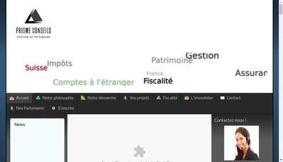 Site internet de Prisme Conseils