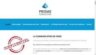 Site internet de Prisme Consulting