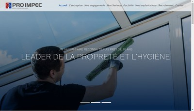 Site internet de Pro Impec Groupe Pascal Boulanger