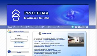Site internet de Prochima